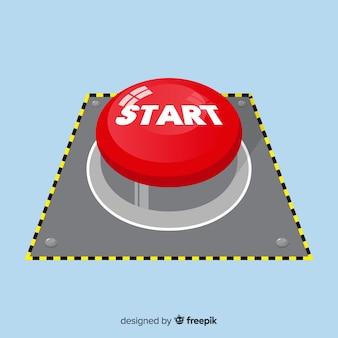 Concept de bouton de démarrage rouge