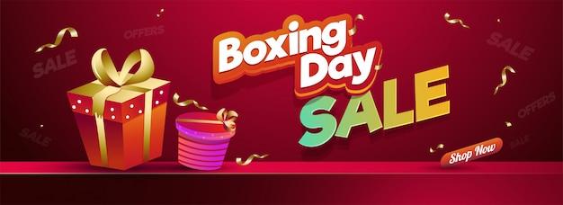 Concept de boxing day.