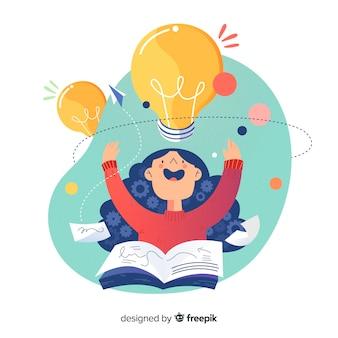 Concept de brainstorming de page de destination