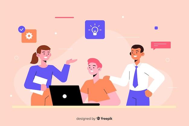 Concept de brainstorming pour landing page