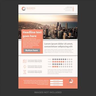 Concept de brochure d'entreprise simple moderne
