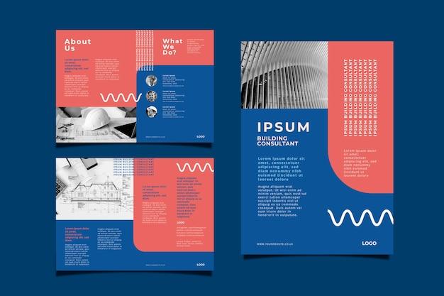 Concept de brochure d'entreprise
