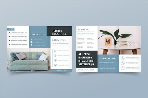 Concept de brochure minimale à trois volets