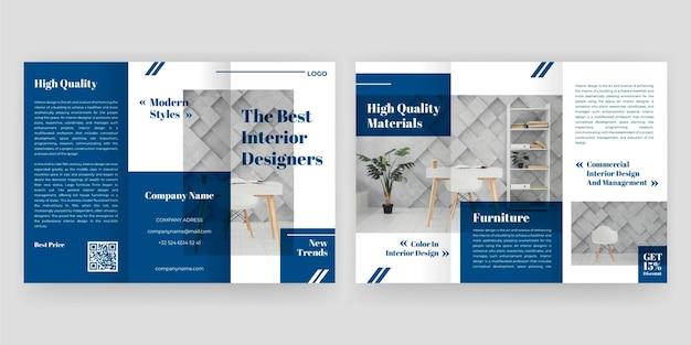 Concept de brochure à trois volets minimal