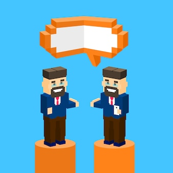 Concept de bulle de communication business man chat