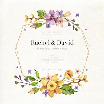Concept de cadre floral de mariage