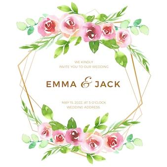 Concept de cadre floral pour mariage