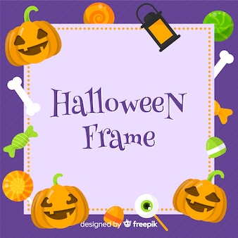 Concept de cadre halloween moderne