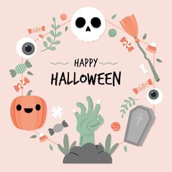 Concept de cadre halloween