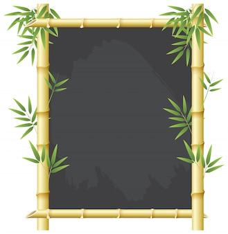 Concept de cadre de tableau en bambou