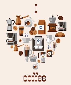 Concept de café d'amour
