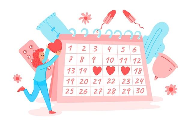 Concept de calendrier menstruel