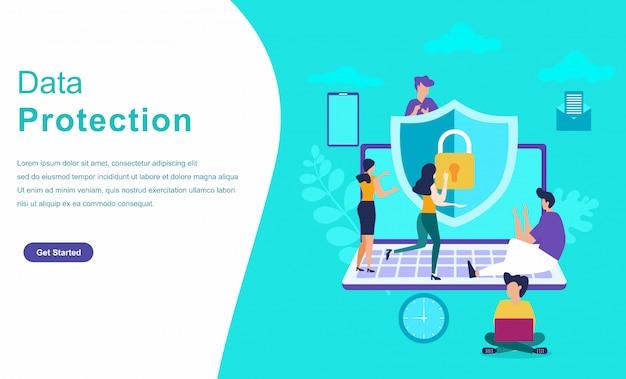 Concept de caractère du système de protection des données