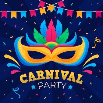 Concept de carnaval design plat