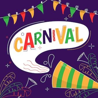 Concept de carnaval dessiné à la main