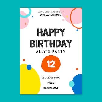 Concept de carte d'anniversaire