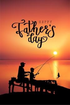 Concept de carte de fête des pères heureux