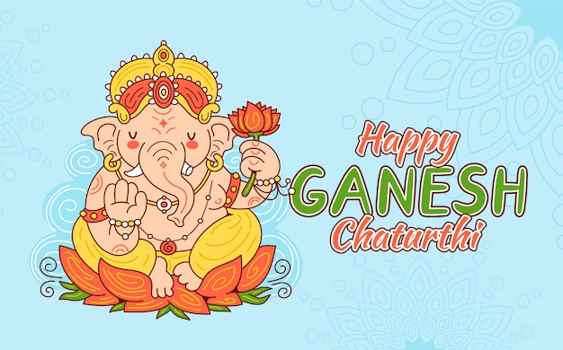 Concept de carte happy ganesh chaturthi