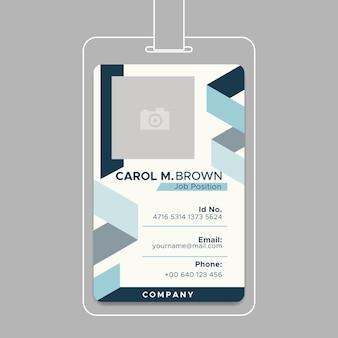 Concept de carte d'identité d'entreprise