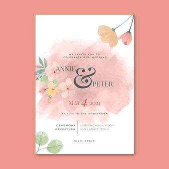 Concept de carte de mariage floral