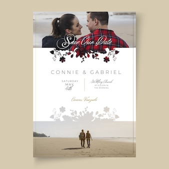 Concept de carte de mariage minimal