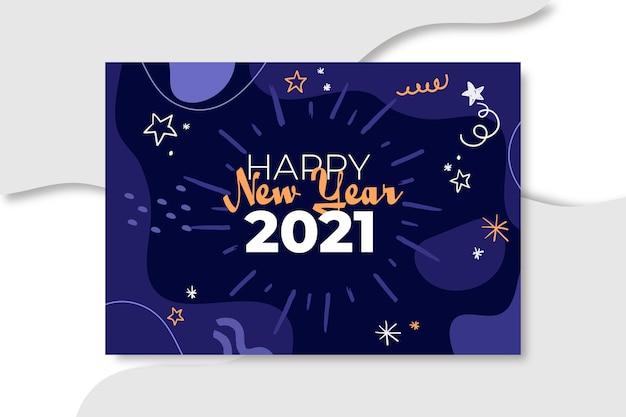 Concept de carte de nouvel an 2021