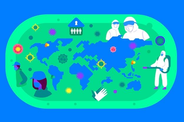 Concept de carte pandémique