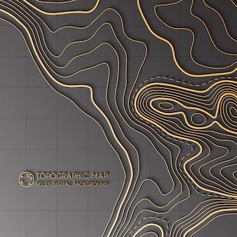 Concept de carte topographique abstraite de vecteur