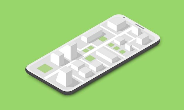 Concept de carte de ville isométrique