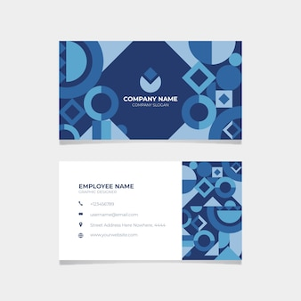 Concept de carte de visite bleu classique