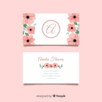 Concept de carte de visite avec des fleurs