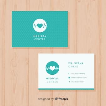Concept de carte de visite médicale moderne