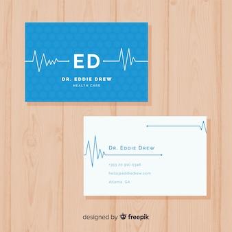 Concept de carte de visite pour hôpital ou médecin