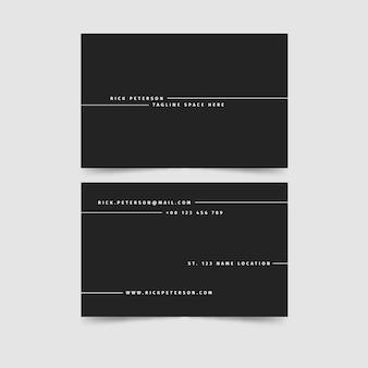 Concept de cartes de visite monochrome