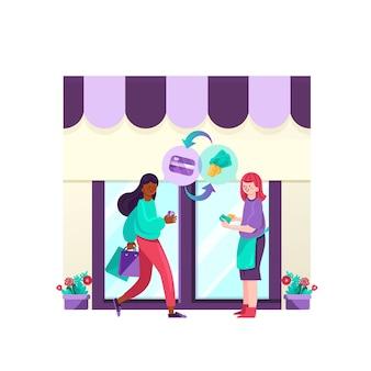 Concept de cashback avec magasin