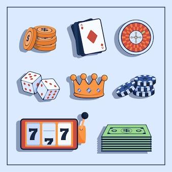Concept De Casino Et De Jeu Vecteur gratuit