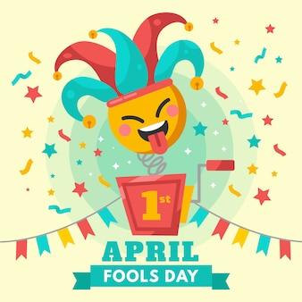 Concept de célébration du jour du poisson d'avril coloré