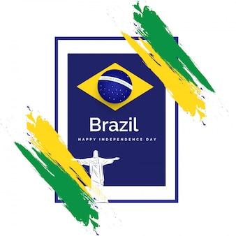 Concept de célébration du jour de l'indépendance du brésil.