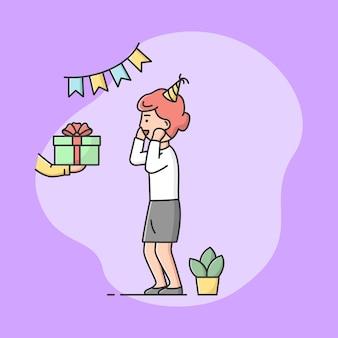 Concept de célébration de fête d'anniversaire de l'enfance.