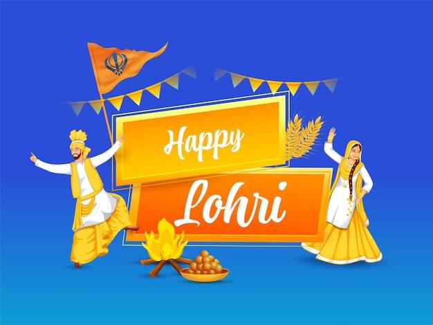 Concept de célébration heureux lohri