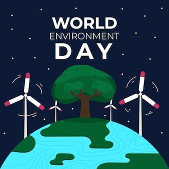 Concept de célébration de la journée mondiale de l'environnement