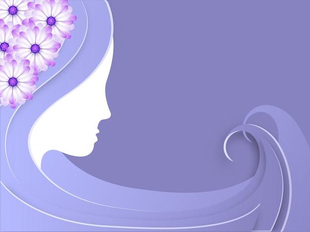 Concept de célébrations de la journée internationale de la femme.
