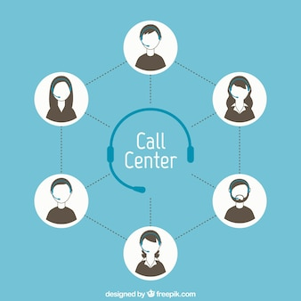 Concept de centre d'appels