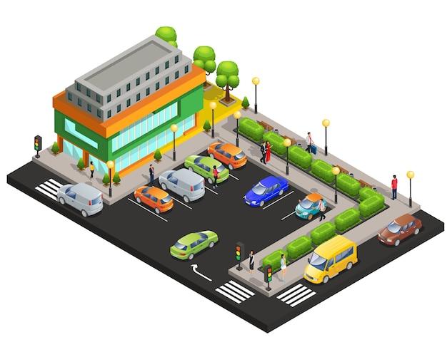 Concept de centre commercial isométrique