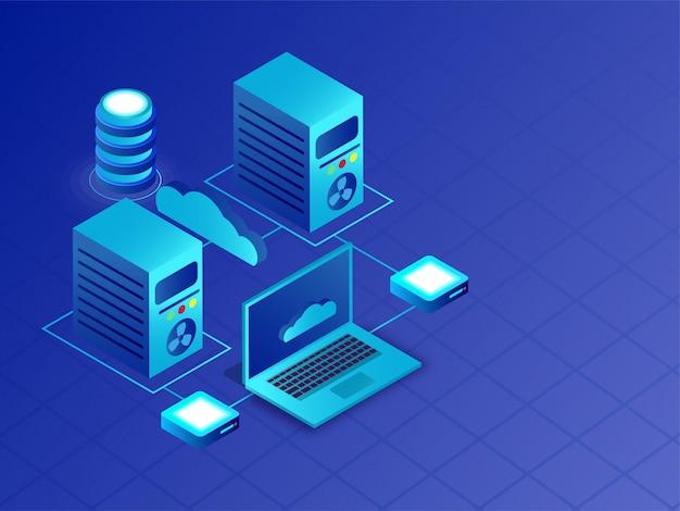 Concept de centre de données.