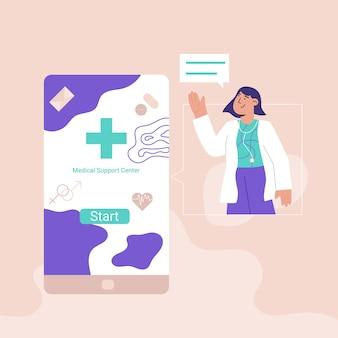 Concept de centre de soutien médical