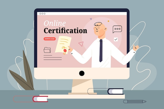 Concept de certification en ligne