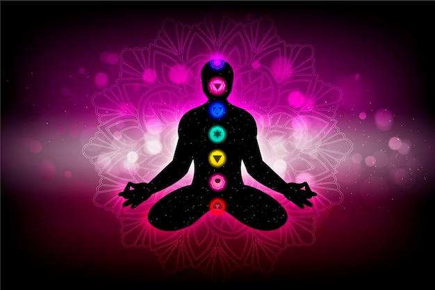 Concept de chakras avec points focaux