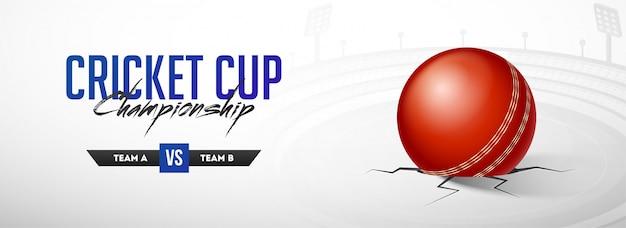 Concept de championnat du monde de cricket.
