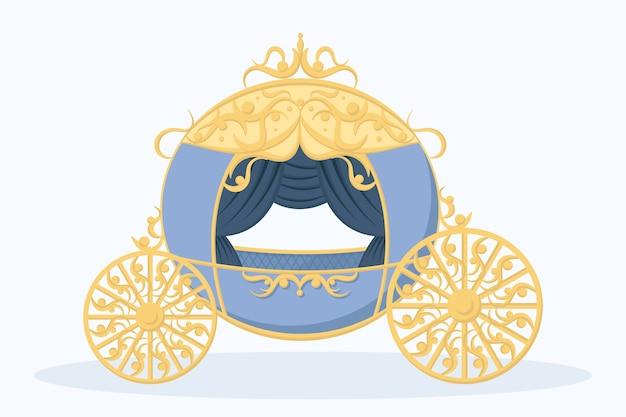 Concept de chariot magique de conte de fées